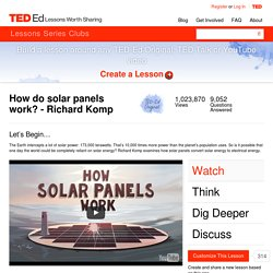 How do solar panels work? - Richard Komp