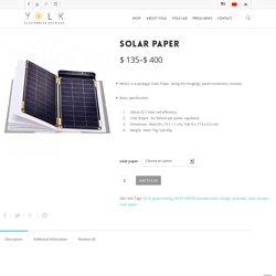 Solar Paper - YOLK