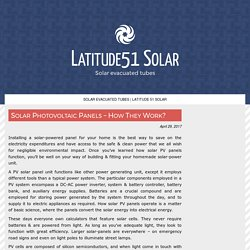 Solar Photovoltaic Panels – How They Work?
