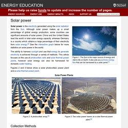 Solar power - Energy Education