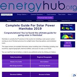 Solar Power Manitoba (Complete Guide 2019)