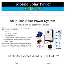 All-in-One Solar Power Packages - Mobile Solar Power Made Easy!