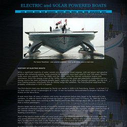 SOLAR POWERED BOATS