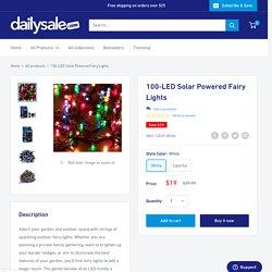 100-LED Solar Powered Fairy Lights