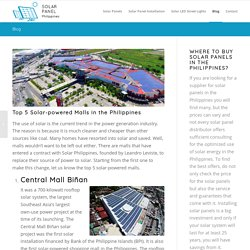 Top 5 Solar-powered Malls in the Philippines