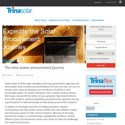 The solar power procurement journey