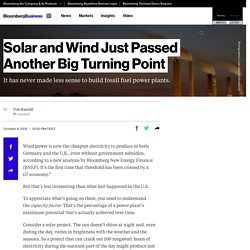 Solar & Wind Reach a Big Renewables Turning Point : BNEF