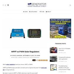 MPPT vs PWM Solar Regulators