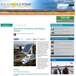 Solar Power for Remote and Wireless Sensing