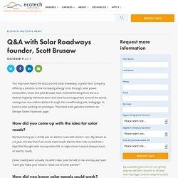 Q&A with Solar Roadways founder, Scott Brusaw