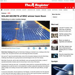SOLAR SECRETS of WSC winner team Nuon