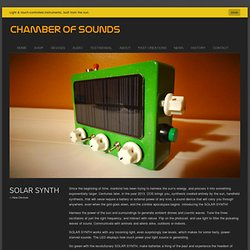 SOLAR SYNTH | Chamber of Sounds
