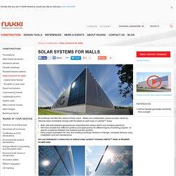 Solar systems for walls - Ruukki