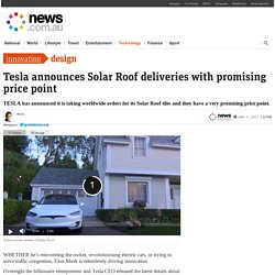 Elon Musk's solar tiles have an infinite warranty, low cost