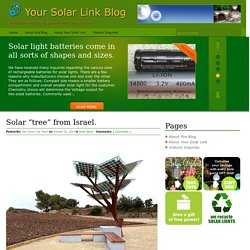 "Solar ""tree"" from Israel. « Your Solar Link Blog"