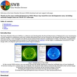 Solar Weather Browser download page