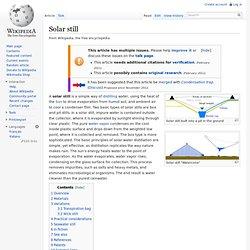 Solar still