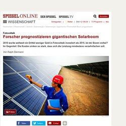 Fotovoltaik: Forscher prognostizieren gigantischen Solarboom - SPIEGEL ONLINE - Nachrichten - Wissenschaft