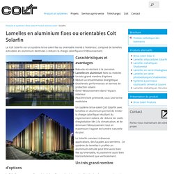 Solarfin - Colt France