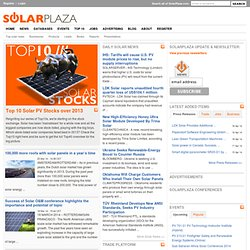 Solarplaza | The global solar energy (PV) platform