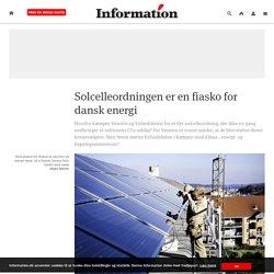 Solcelleordningen er en fiasko for dansk energi