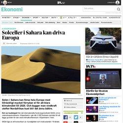 Solceller i Sahara kan driva Europa