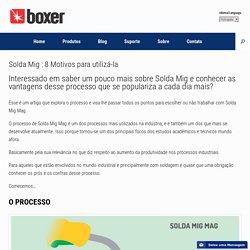 Solda Mig : 8 Motivos para utilizá-la - Boxer Soldas