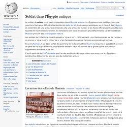 Soldat dans l'Égypte antique