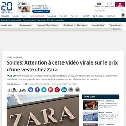 Soldes: Attention à cette vidéo virale sur le prix d'une veste chez Zara