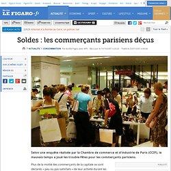 Conso : Soldes : les commerçants parisiens déçus