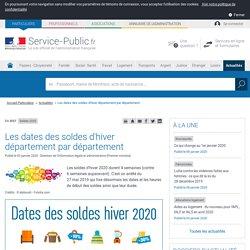 Soldes 2020 -Les dates des soldes d'hiver département par département