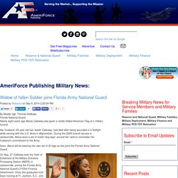 Widow of fallen Soldier joins Florida Army National Guard