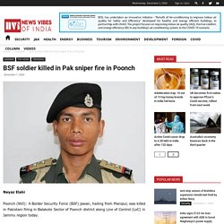 BSF soldier killed in Pak sniper fire in Poonch - News Vibes of India