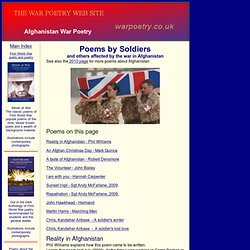 Poems by soldiers and other members of the armed services