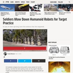 Soldiers Are Taking Target Practice Against These Man-Shaped Robots