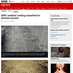 WWI soldiers' writing unearthed in Somme tunnels