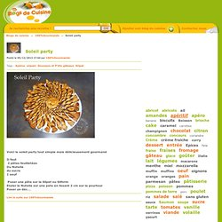 Soleil party - Blogs de cuisine