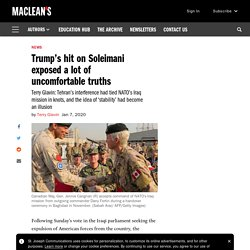 Trump's hit on Soleimani exposed a lot of uncomfortable truths