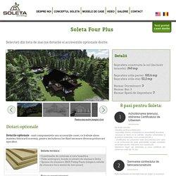 Soleta Four Plus - este primul model de casa Soleta a carui suprafata de 155,6 mp se imparte pe doua nivele.