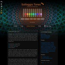 Solfeggio Healing Tones Generator