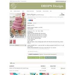 """Berry Ripple - Virkad DROPS kjol i """"Cotton Merino"""" med ränder och solfjädersmönster. Virkad uppifrån och ned. Stl S - XXXL. - Free pattern by DROPS Design"""