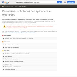 Permissions requested by apps, extensions, and themes - Google Chrome Help