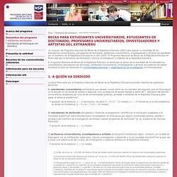 Programa Nacional de Becas - solicitantes extranjeros