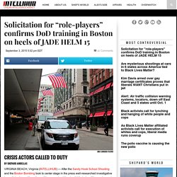 "Solicitation for ""role-players"" confirms DoD training in Boston on heels of JADE HELM 15"