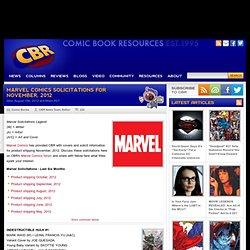 Marvel November, 2012