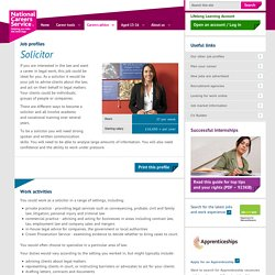 Solicitor Job Information
