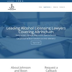 Alcohol Licensing Solicitors in Altrincham