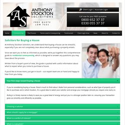 Expert Solicitors Advice for Buying a House in England and Wales