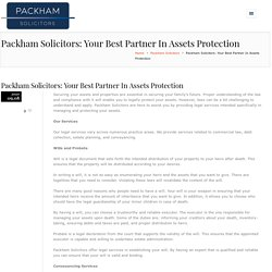 Packham Solicitors - Your Best Partner In Assets ProtectionHenry Packham Solicitors