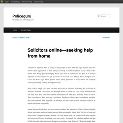 Solicitors online—seeking help from home